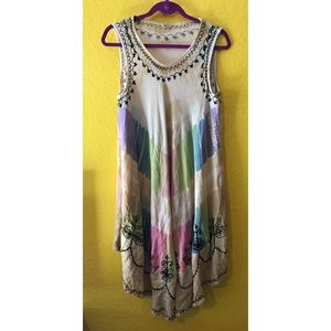 Dresses & Skirts - Fun bohemian rainbow tank dress